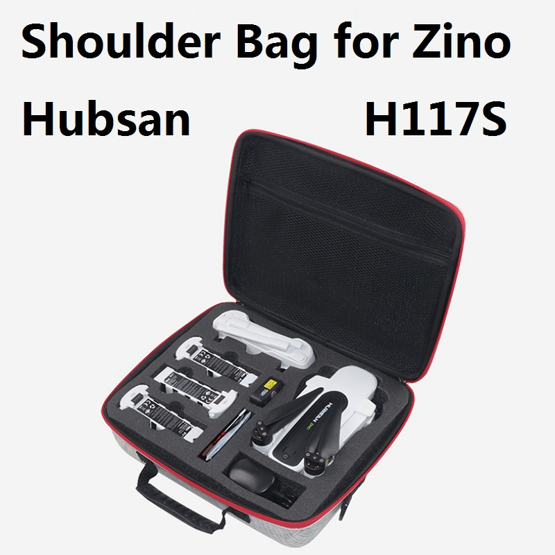 Zino Shoulder Bag and Hard Shell Backpack Storage bag Fitting for Hubsan X4 Zino H117S(China)