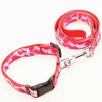 Pet Small LED Dog Leash Camouflage Light Dog Leashes With CamouflageLED Dog CollarS Combination Dog Supplies