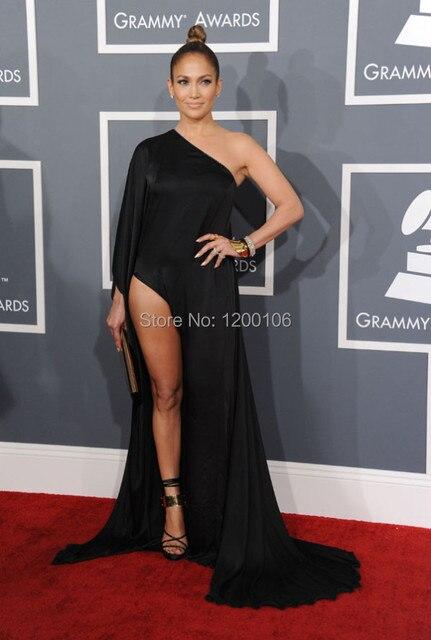 Красный ковер 55-й премии грэмми сексуальная одно плечо с длинным рукавом Beyonce вечерние платья знаменитостей