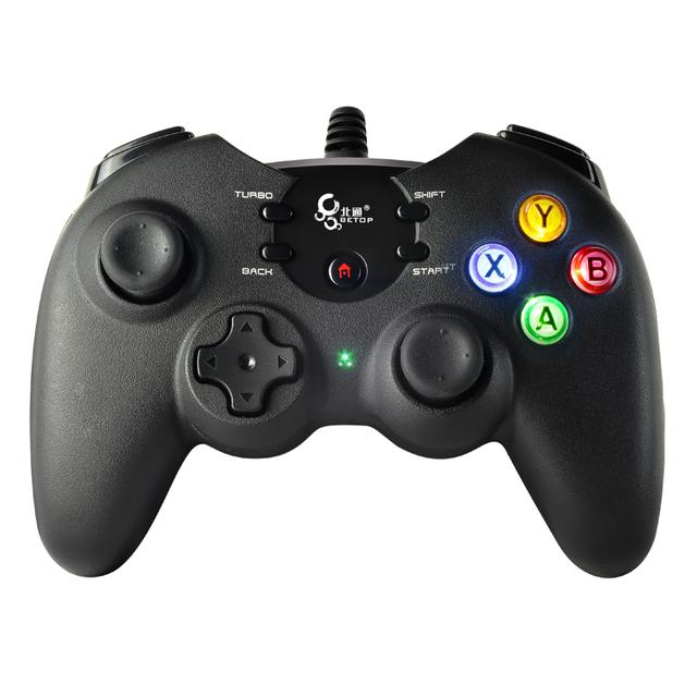 VENTA CALIENTE BTP-2170U Wired Dazzle Luz Controlador de Juego Gamepad Joypad USB BETOP vibración TURBO Para PS3 PC Tablet envío gratis