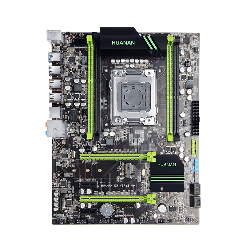 X79 материнской huanan Золотой V2.49 LGA2011 ATX USB3.0 SATA3 pci-e NVME M.2 SSD Поддержка ecc reg памяти и Xeon E5 процессор