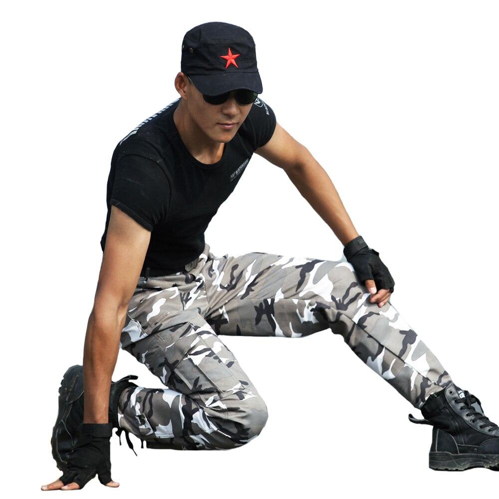 전술 바지 카고 바지 남성 위장 작업 바지 Pantolon 패션 조깅 남자 군대 군사 스타일 카모 옷