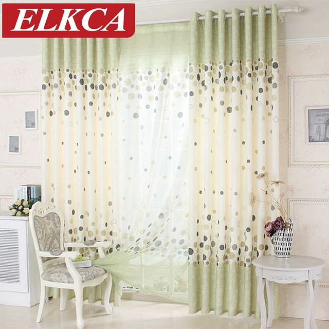 Window Treatment Green Grey Endless Curtains For Living Room Tulle Sheer Bedroom