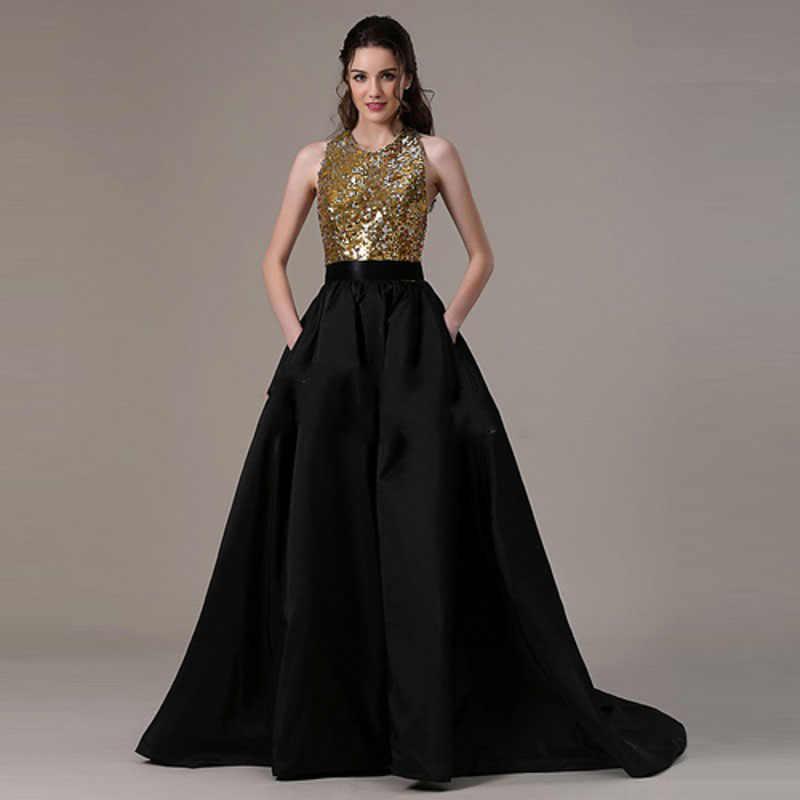 df65f2cf0 Falda larga de alta calidad, falda Formal negra para fiesta, Faldas ...