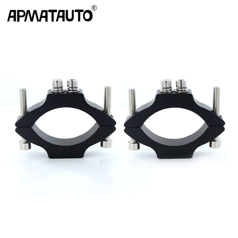 2pcs Motorcycle LED Headlight Bracket Mounting Driving Hunting Fog Light Clamps Holder lamp For 20-55mm Tube Fork2pcs Motorcycle LED Headlight Bracket Mounting Driving Hunting Fog Light Clamps Holder lamp For 20-55mm Tube Fork
