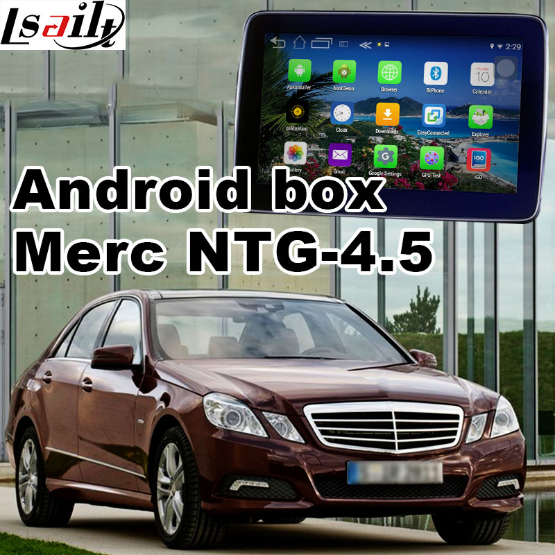 US $450 0 |Android 6 0 GPS navigation box for Mercedes benz E class W212  NTG 4 5 video interface box mirror link waze navi quad core-in Vehicle GPS