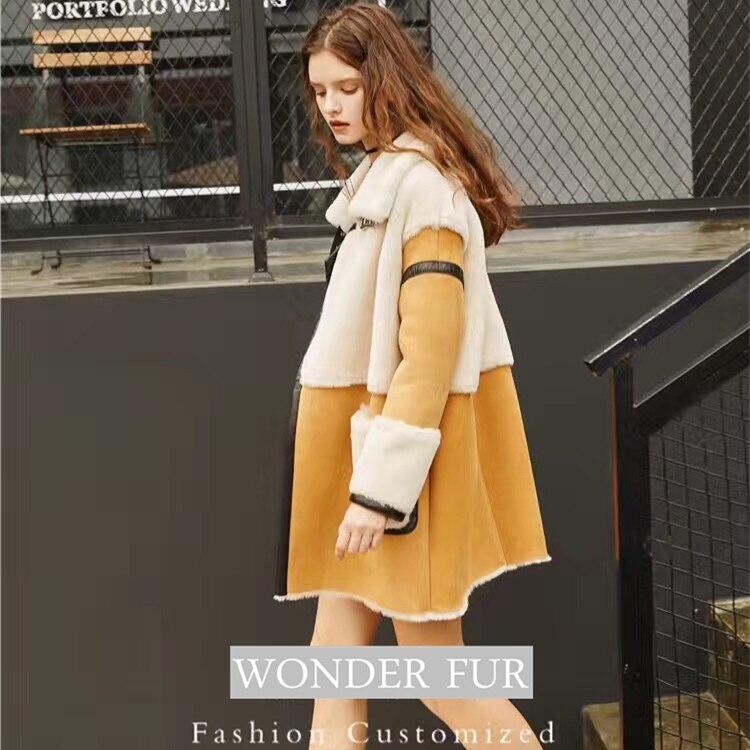 Nov prihod iz ovčje kože in krznene jakne Trend Style Merino ovčje - Ženska oblačila - Fotografija 4