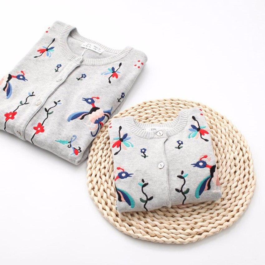 család megfelelő pulóverek családi tavaszi néz őszi pamut meleg pulóverek megfelelő anya lányok Hímzés Coats gyerek ruházat