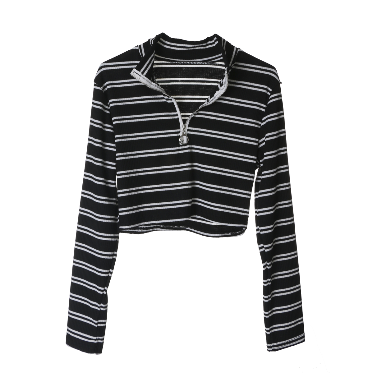 87e01dfc2d6 Black And White Striped Long Sleeve Womens Shirt - raveitsafe