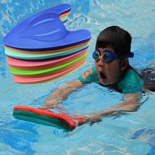 Dwa kolor deska w kształcie dzieci EVA pływanie Kickboard pływać przy pomocy nauczania Float deski deska surfingowa początkujących pływać sprzęt cheap Akcesoria Ekologiczny PCV TECHWILL 3 lat Stałe Children Swimming Training Kickboard EVA Swimming Kickboard 39*28 5*4 5CM