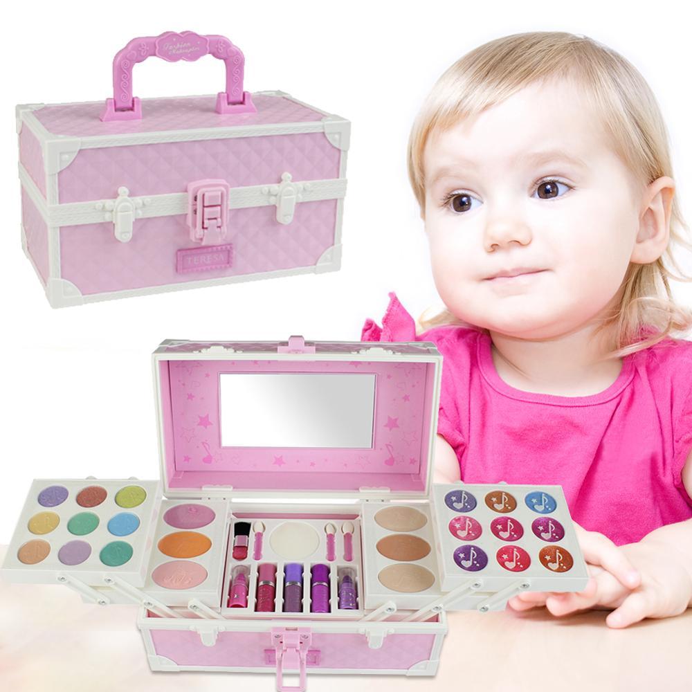 Enfants maquillage ensemble de jouets semblant jouer princesse maquillage beauté jouet sécurité Non-toxique Kit jouets pour filles habillage cosmétique boîte de voyage