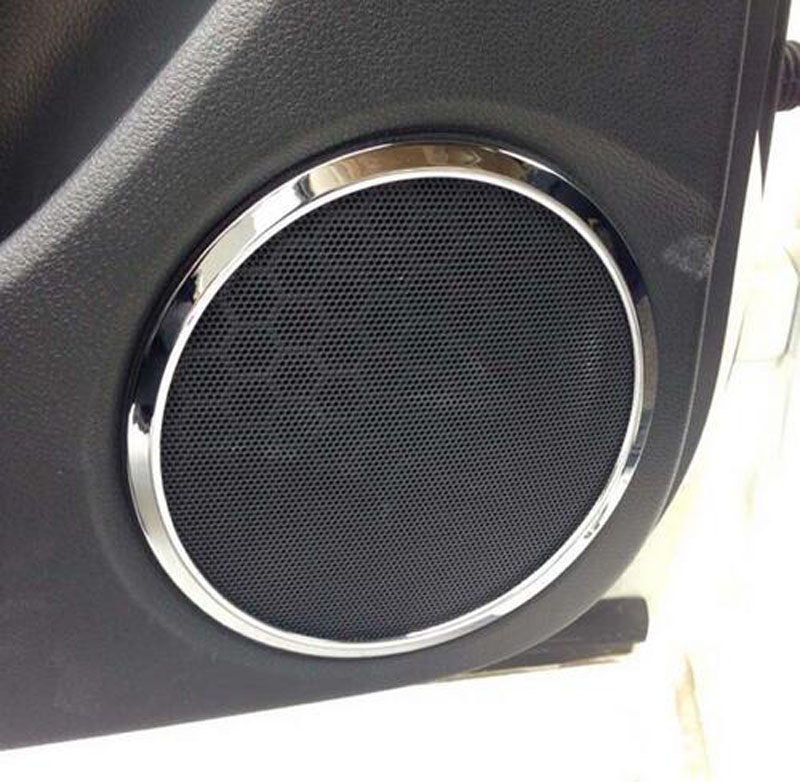 Interior Frame Speaker Box Plated Ring for <font><b>Nissan</b></font> <font><b>Qashqai</b></font> J11 <font><b>2014</b></font> 2015 2016 2017 2018 Chrome Car Styling Sticker <font><b>Accessories</b></font> image