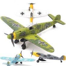 20*18 см сборщик модель игрушки строительный инструмент наборы боевой самолет литье под давлением войны-II BF-109 ураган Spitfire пиратский военный