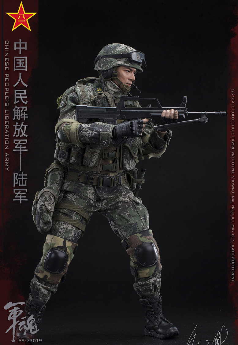 1/6 Scale Chiese People's Liberation Army Soul-Series Army Machine Gunner Military Solider Action Figure Full doll collection 10