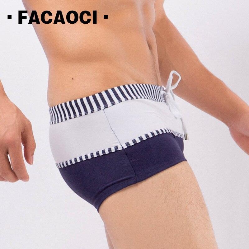 2018 novos Homens Swimwear Sunga Verão Maiôs Boxer Cuecas dos homens Sexy praia calças curtas Do Esporte de Água