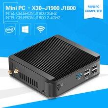 3-years-Warranty Ordenador Sobremesa Celeron Quad Core J1900 Tv Box Windows7 with 8G Ram 128G SSD USB3.0+RJ45