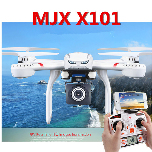 Professional RC Drones Dron MJX X101 With C4015 C4018 Camera FPV 2.4GHz 6 Axis Gyro Quadcopter 3D Roll Headless Mode Helicopter wifi fpv professional rc drones v686 with camera 2 4g 6 axis gyro rc quadcopters remote control flying helicopter rc toy gift