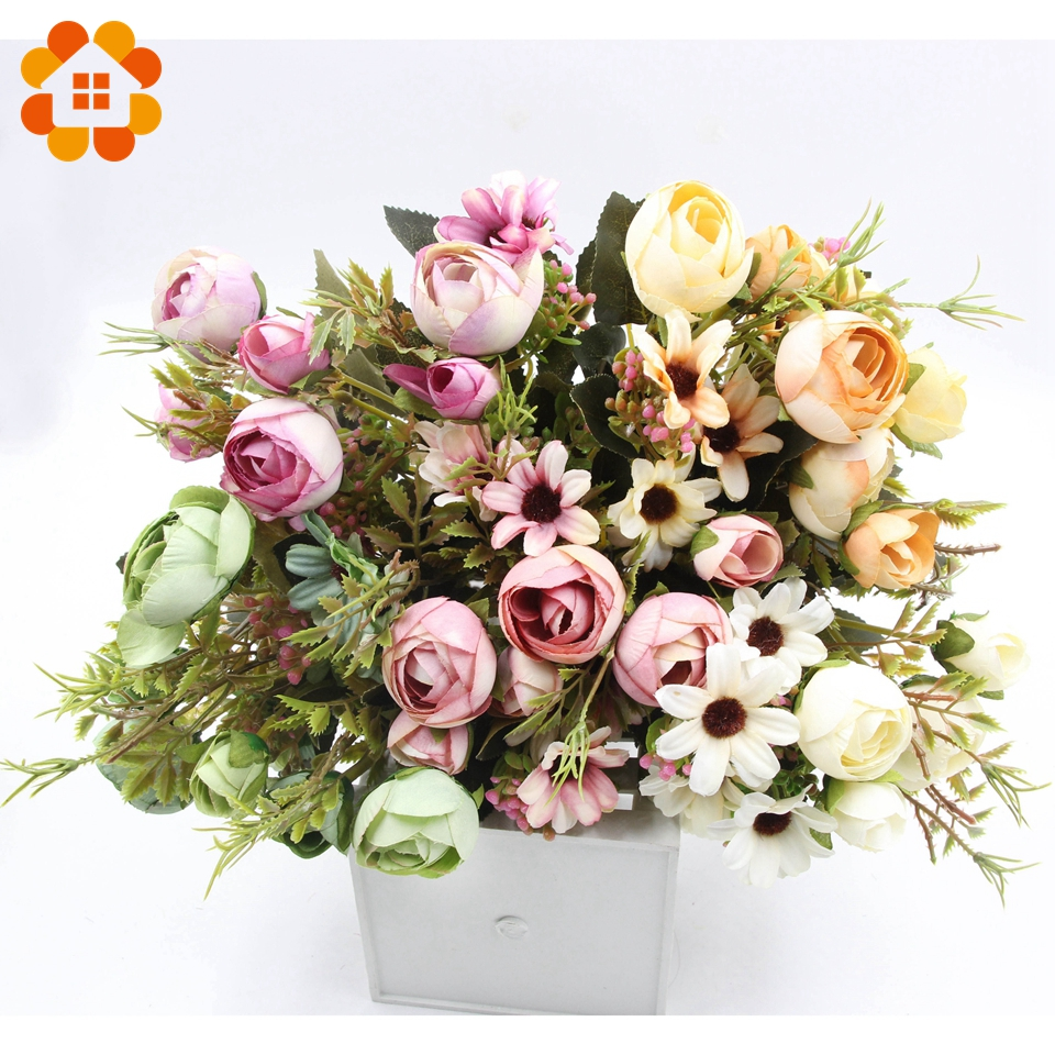 buy artificial wedding bouquets online aliexpress buy 1 bouquet diy artificial flowers the 2168