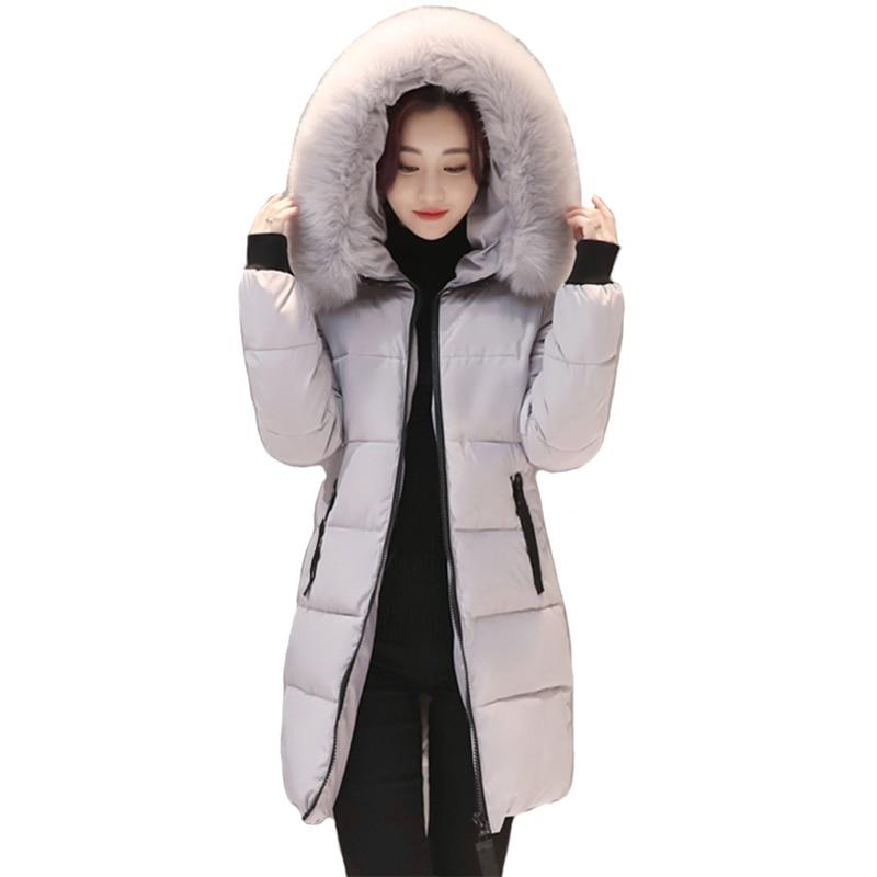 Women Winter Jacket Cotton Padded Hooded Warm Thicken Women Coat Female   Parka   Mujer Outwear 2019 High Quality Casaco Feminina