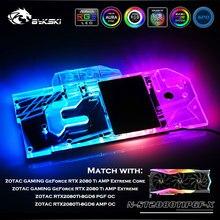 Bykski N-ST2080TIPGF-X AMP Tam Kapak GPU Su Bloğu Için ZOTAC OYUN GeForce RTX 2080 Ti AMP Extreme/Çekirdek Radyatör RGB/RBW