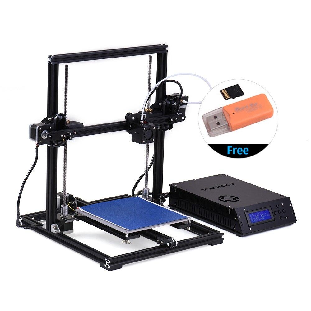 デスクトップ 3D プリンタキット TRONXY X3 DIY 自動レベリング大型印刷サイズ 220*220*300 ミリメートル液晶スクリーン 8 ギガバイトのメモリカード  グループ上の パソコン & オフィス からの 3D プリンタ の中 3