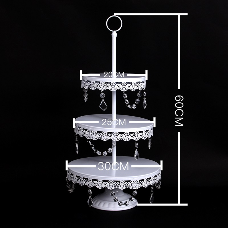 11 Pcs Wedding Cupcake Tray Dessert Metal Crystal Gold 3 Tier Iron Bird Cage Cake Stand in Stands from Home Garden
