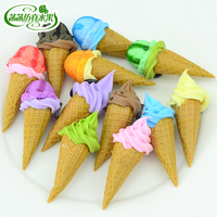 Torch mini ice cream three-dimensional magnetic buckle refrigerator stickers magnets decoration artificial food