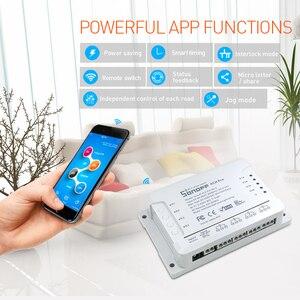Image 5 - Itead Sonoff 4CH Pro R2 433mhz 4 canaux Gang RF sans fil à distance Wifi commutateur intelligent interverrouillage relais Alexa Google Home