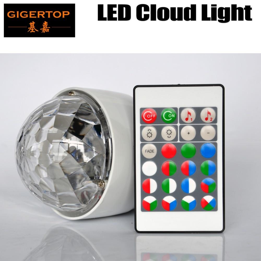 Gigertop TP-E38 Led Cloud Light RGB Remote Controller E27/B22/E26 Fitting Screw Socket Bulb Colorful Rotation Lighting Plastic