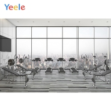 Yeele Interior Poster Gym Equipment French Window Photography Backdrop Personalized Photographic Backgrounds For Photo Studio