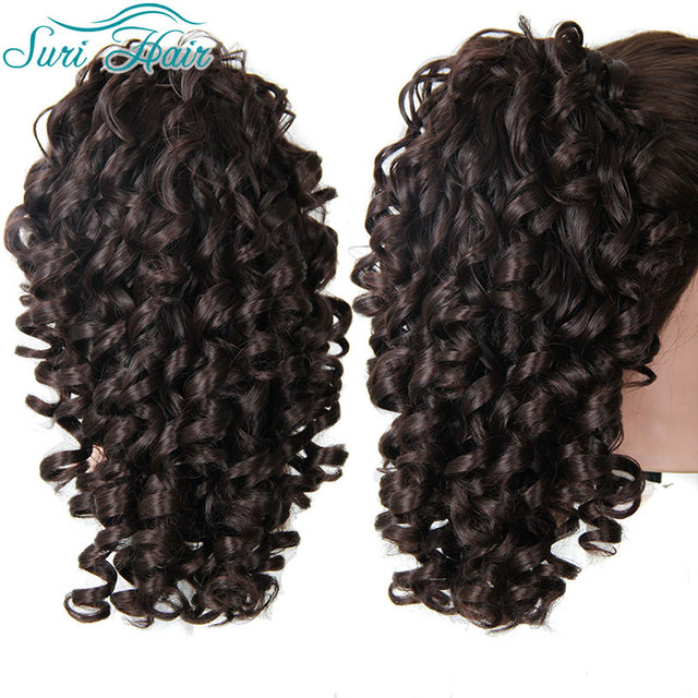 Synthetic Long Ponytail Fake Ponytails Afro Curly 20 Inch Hairpieces Claw On Hair Extension