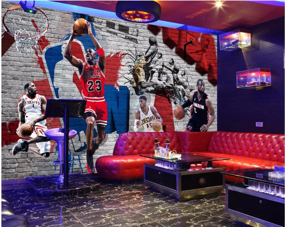 Nba wall murals gallery home wall decoration ideas mural wallpaper for walls picture more detailed picture about custom mural photo 3d wallpaper nba star amipublicfo Image collections