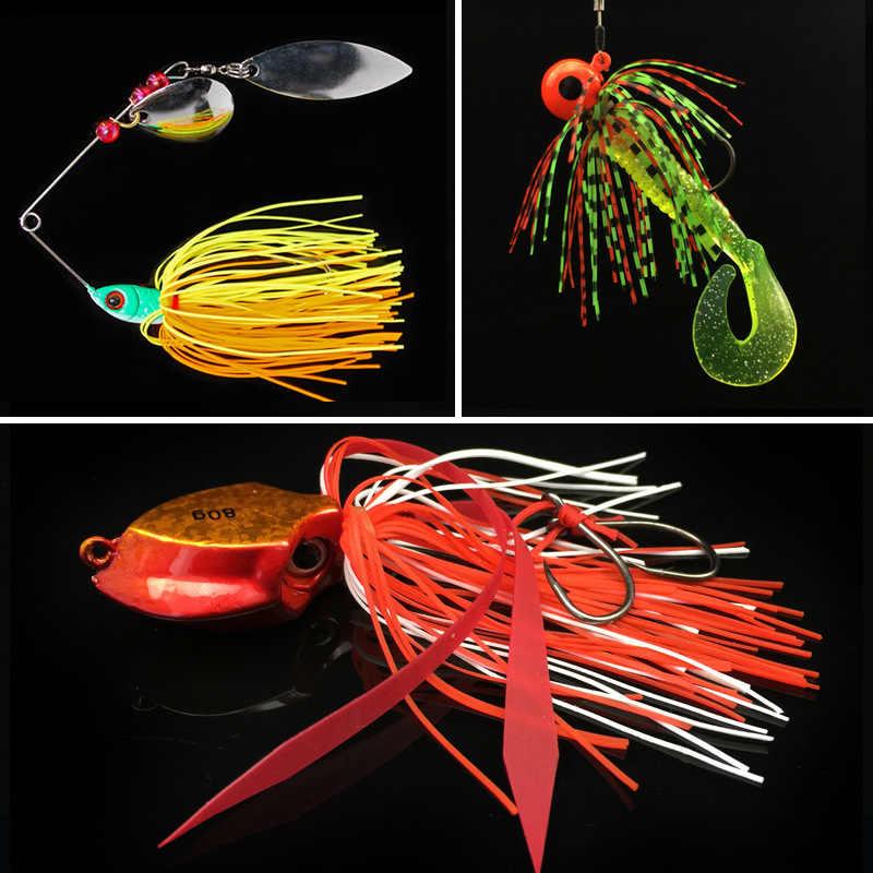 30/40 faldas 1 banda silicona faldas goma Jig señuelos calamar goma falda DIY Spinnerbatis Buzzbaits accesorios de aparejos de pesca