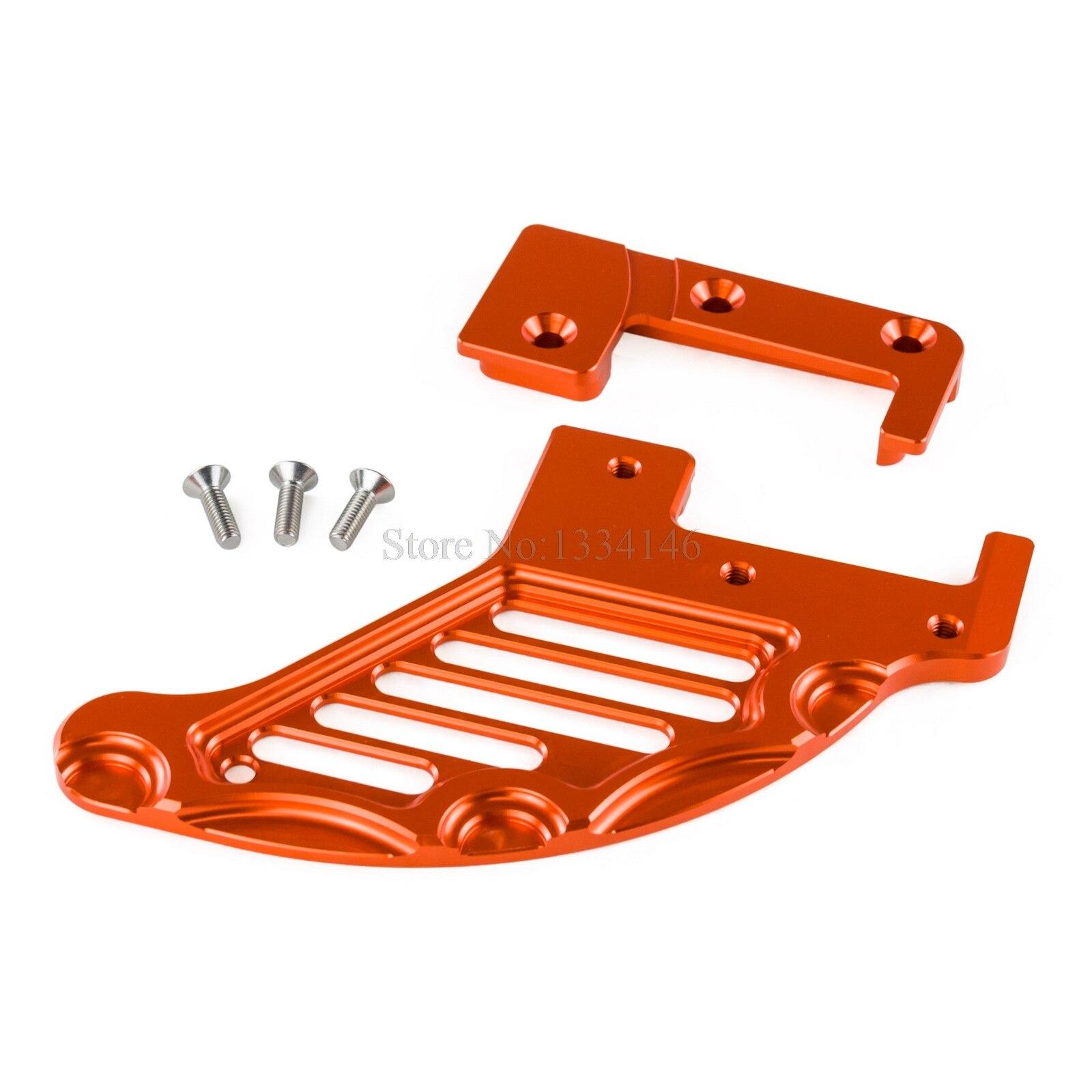 NICECNC Rear Brake Disc Guard For KTM 125 150 200 250 300 350 400 450 500 505 530 560 625 XC XC-W XC-F XCF-W EXC EXCF SX SXS SXF billet axle blocks chain adjuster for ktm 125 150 200 250 300 350 400 450 500 505 525 530 exc exc f xc w xcw xcf w 2000 2015