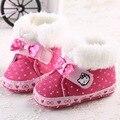 100% de Votos Positivos de Bebé Zapatos de Prewalker Invierno Inferior Suave Lindo Gatito Recién Nacido Kids Todder Botas Cálido Niño Primeros Caminante