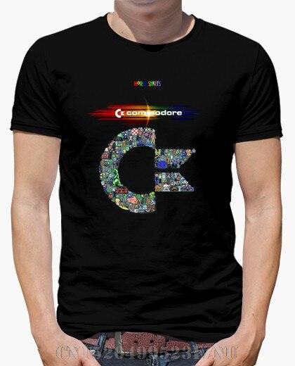 Летний хит продаж футболки мужские Commodore Короткие рукава принт забавные вязаные футболки мужские Костюмы