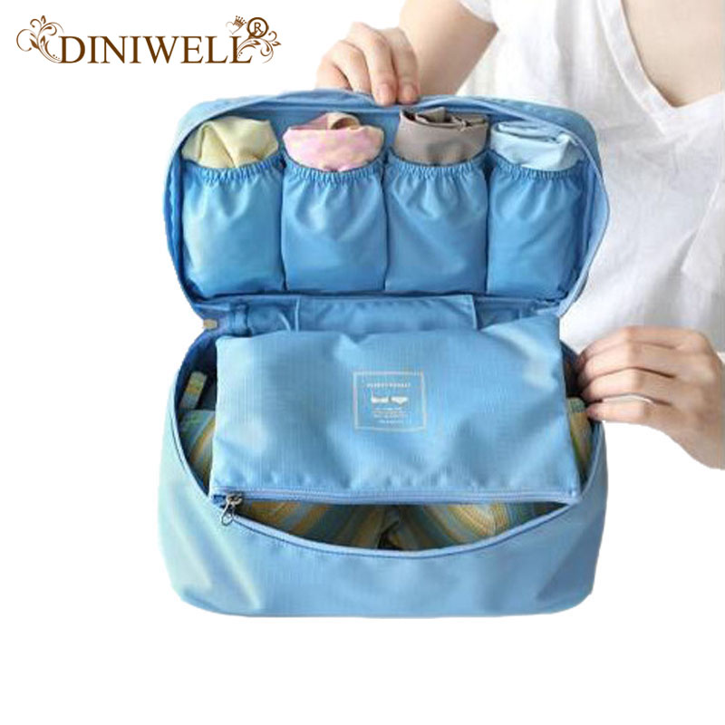 DINIWELL Reisorganizer Make-up tas Draagbare Bagage-opbergdoos BH Ondergoed Pouch Ladeverdeler Container