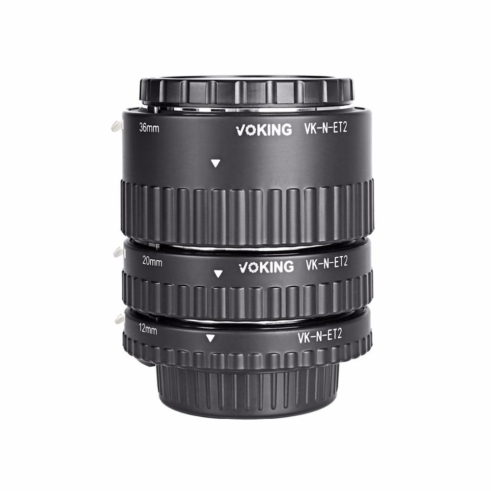Voking Macro Auto Focus tube Extension Anneau VK-N-ET2 pour Nikon D7100 D5200 D3100 D800 D90 D800E D5100 D7000 D5300 DSLR caméras