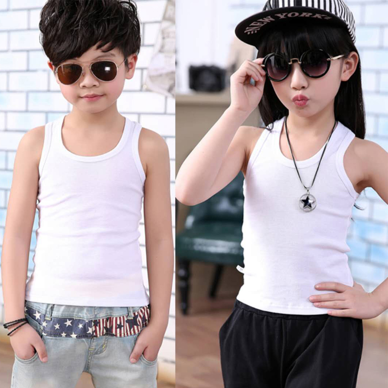 Wholesale Baby Tops Children Vest Boys Girls Summer white T Shirts  Sleeveless Tank Camisoles 2018 Solid cotton Toddler Tees|Tanks & Camis| -  AliExpress