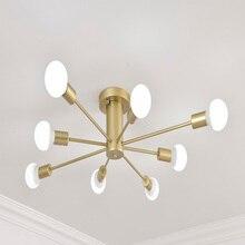 Led מודרני נברשת תאורת תקרת תליית חדר שינה סלון 8 E27 הנורה בית צינורות נברשות תקרת גופי