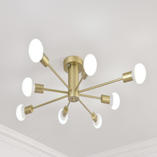 Led modern chandelier lighting ceiling hanging lamp For Living Room Bedroom 8 E27 bulb Home pipes Chandeliers ceiling Fixtures