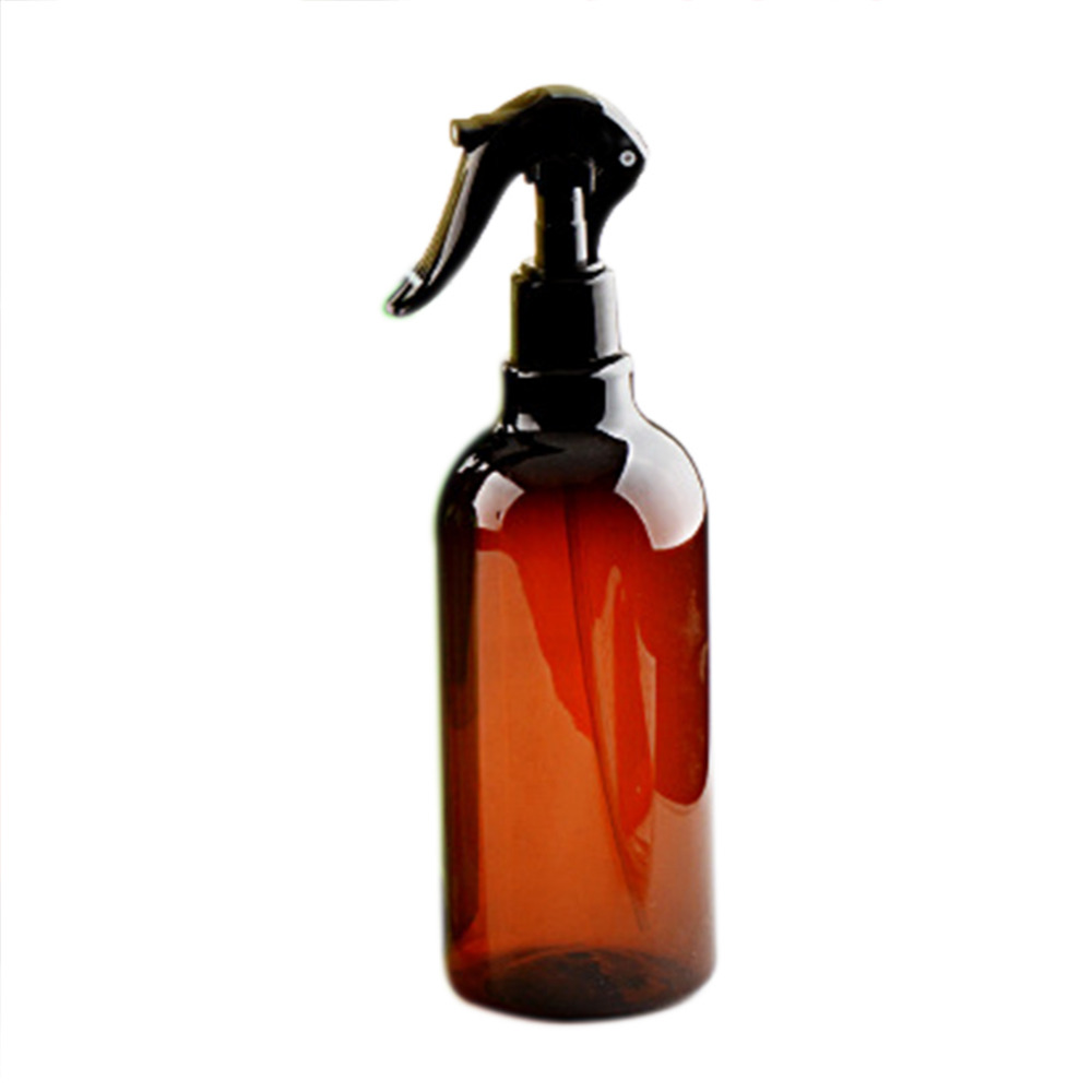 500ML Amber PET Spray Empty Bottles Trigger Sprayer Essential Oils Aromatherapy Perfume Refillable Bottle Bathroom Supplies