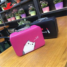 Attra-Yo Big Cosmetic Case Large Capacity Suitcase Fashion Lovely Travel Makeup Bag Waterproof Girl Beauty Box Travel Organizer(China)