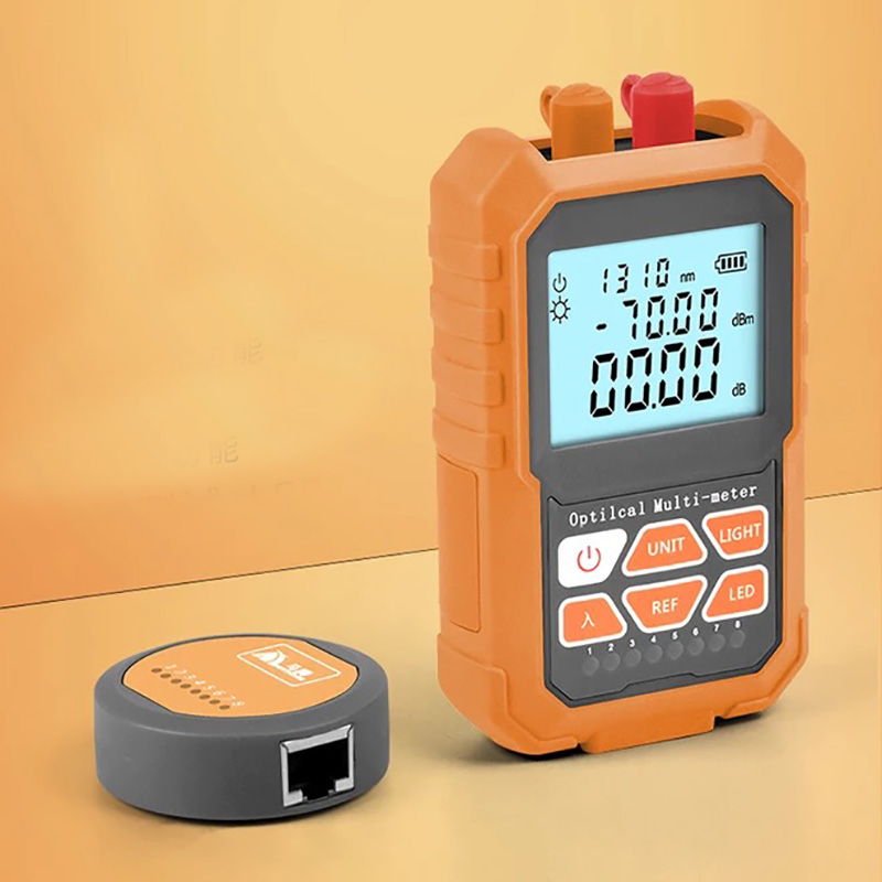 Mini Multifunction Optical Power Meter & 5MW Visual Fault Locator VFL Optical Laser Light Source with RJ45 Network test