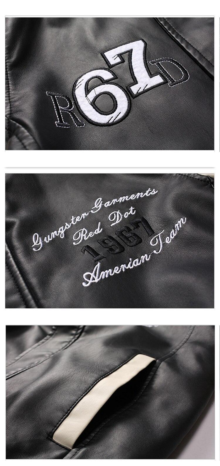 HTB1frnEbRCw3KVjSZR0q6zcUpXaQ New Men Pu Faux Leather Jacket 2019 Brand Embroidery Baseball Jackets Male Casual Luxury Winter Warm Fleece Pilot Bomber Coat
