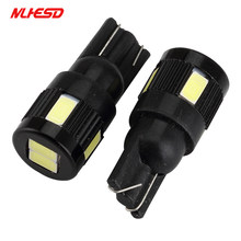 10x High power led auto licht t10 6smd 5630 5w5 DC 12-24V non-polaire t10 Aluminium bollen Side Marker Parking Lightn Breedte Lamp Led(China)