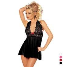 d09c82a291a16 Sexy Pregnant Women Pajamas Summer transparent Lace dress G String Thongs  Set For Women Sleepwear Home Wear clothes nightwear D3