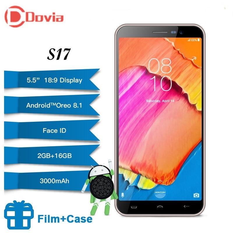 HOMTOM S17 Android 8.1 Quad Core 5.5 18:9 Screen Smartphone Fingerprint Face Unlock 2GB16GB Cellphone 13MP+8MP Mobile PhoneHOMTOM S17 Android 8.1 Quad Core 5.5 18:9 Screen Smartphone Fingerprint Face Unlock 2GB16GB Cellphone 13MP+8MP Mobile Phone