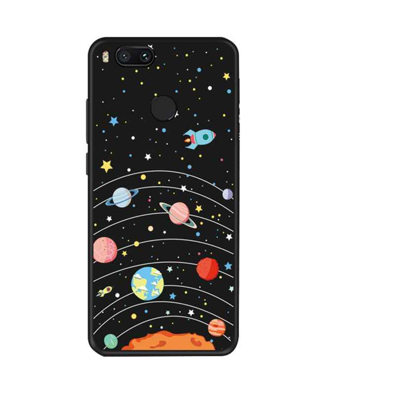 Silikonowy TPU etui na telefony dla Huawei P20 Pro P10 księżyc gwiazdy malowany wzór matowe etui do p9 lite 2017 10 p10 lite okładka powrót