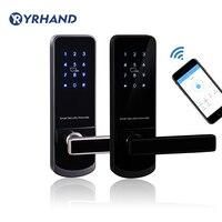 Bluetooth Wi Fi Смарт Электронные дверные замки клавиатуры дверной замок с шиповым соединением для дома Airbnb дом или квартира с приложением дистан